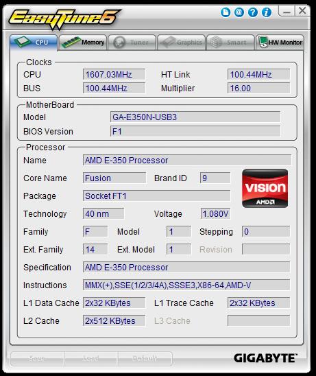GA-E350N-USB3 EasyTune6