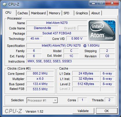 CPU-Z 1.52 CPU