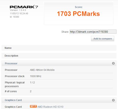 GA-E350N-USB3のPCMark 7